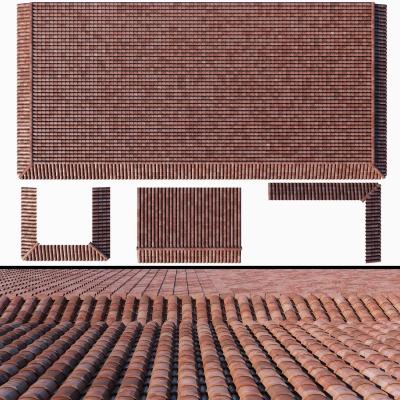 现代屋顶瓦片组合3D模型【ID:728468803】