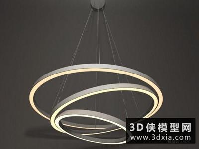 现代吊灯国外3D模型【ID:829651739】