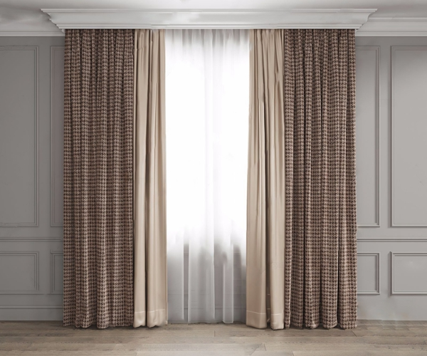 現代簡約窗簾3D模型【ID:246257683】