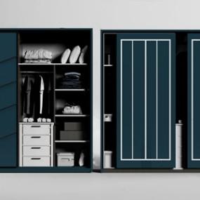 现代衣柜 3D模型【ID:141470451】