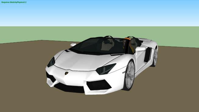 蘭博基尼Aventador跑車SketchyPhysicsSU模型【ID:438753950】