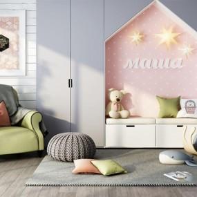 北欧儿童娱乐室家具组合3D模型【ID:928348676】