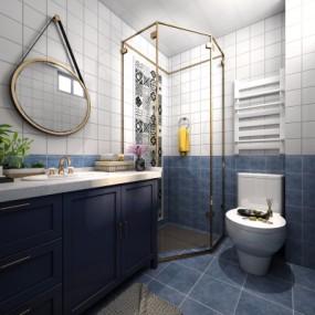 北欧浴室卫生间3D模型【ID:127770603】