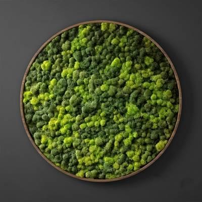 现代绿植墙3D模型【ID:324882523】