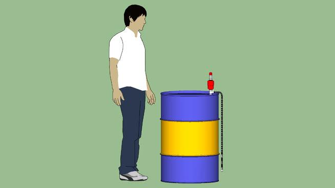 工業系列-設備-泵-聚虹吸鼓手泵SU模型【ID:940210507】