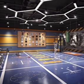 现代健身房私教区3D模型【ID:527802032】