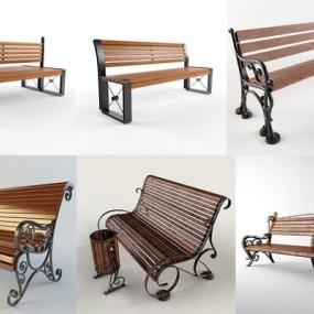 公园商场休闲椅子3D模型【ID:227877429】