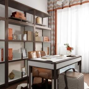 深圳太合南方建筑室内设计事务所设计现代奢华书房 3D模型【ID:541545476】