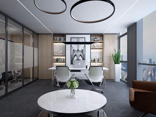 现代办公室3D模型【ID:728311633】