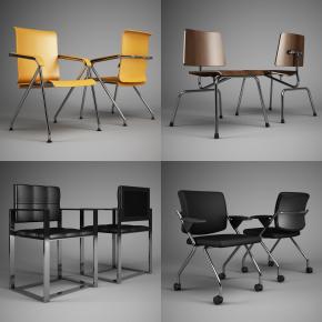 现代时尚办公椅组合3D模型【ID:227780917】