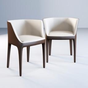 现代皮革单椅3D模型【ID:228424498】