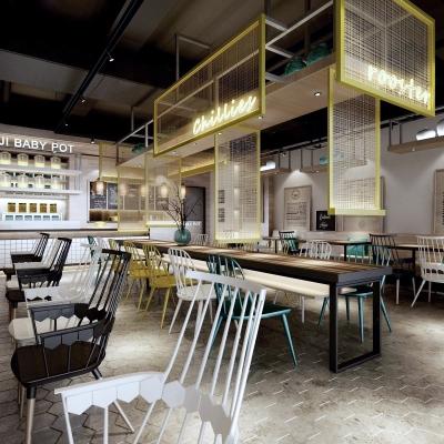 工業風主題餐廳3D模型【ID:728467964】