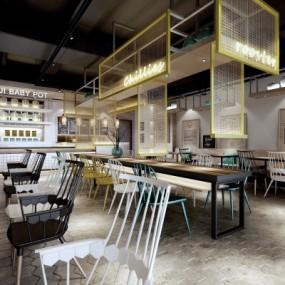 工业风主题餐厅3D模型【ID:728467964】