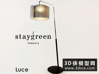 現代落地燈國外3D模型【ID:929583016】