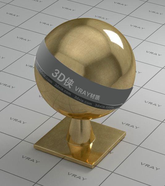 金色金属Vray材质【ID:736499655】
