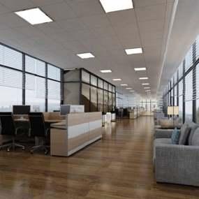 现代办公室3D模型【ID:924896019】
