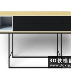 现代装饰柜国外3D模型【ID:829341076】