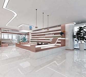 现代科技化妆品实体店3D模型【ID:935926776】