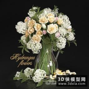 装饰花国外3D模型【ID:929308852】