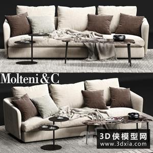 現代沙發國外3D模型【ID:729317665】