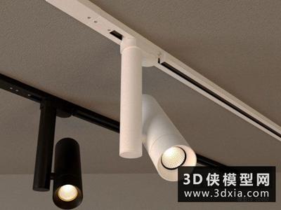 軌道射燈國外3D模型【ID:929421110】