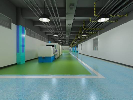 现代工厂3D模型