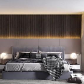 现代卧室 3D模型【ID:541632288】