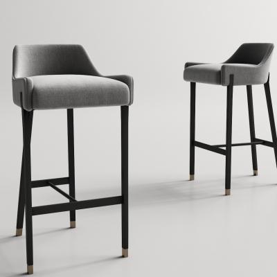 現代布藝吧臺椅3D模型【ID:328439141】