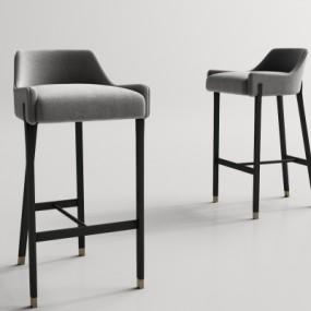 现代布艺吧台椅3D模型【ID:328439141】