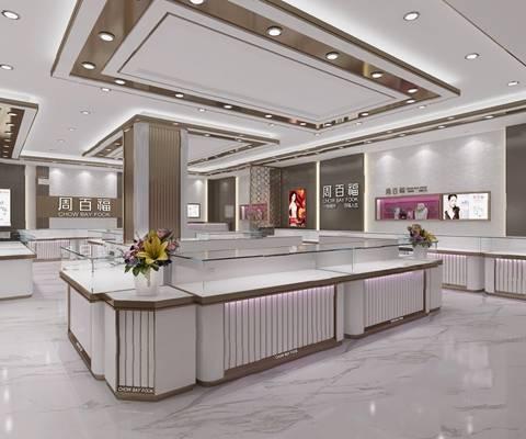 现代珠宝店3D模型【ID:724894557】