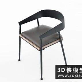 现代北欧椅子国外3D模型【ID:729631854】