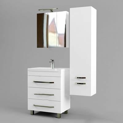 现代洗手台3D模型【ID:520619904】
