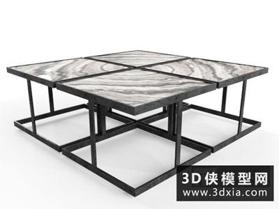 現代茶幾國外3D模型【ID:829486189】