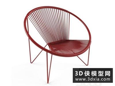 現代休閑椅國外3D模型【ID:729706834】