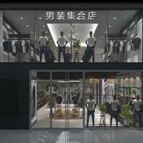 现代服装店3D模型【ID:324894641】