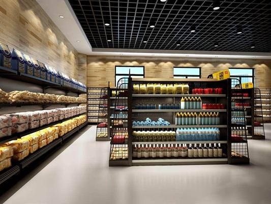 現代超市3D模型【ID:928189615】