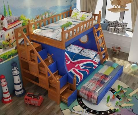 儿童床3D模型【ID:720010167】