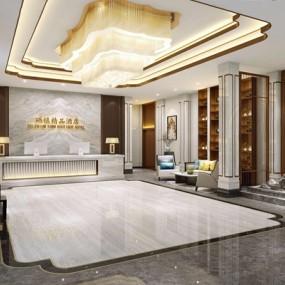 酒店大厅3D模型【ID:428262223】