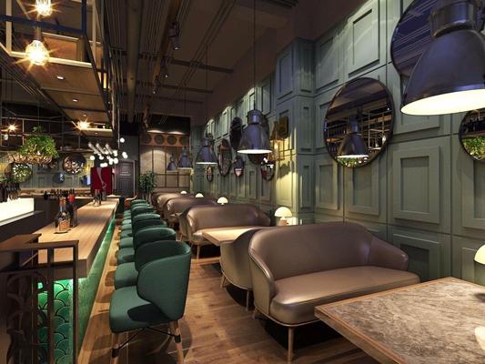 工业风奢华酒吧3D模型【ID:428024466】