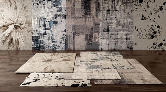 现代抽象风格地毯3D模型【ID:241359626】