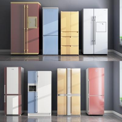 現代冰箱組合3D模型【ID:127773219】