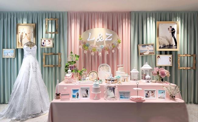 婚慶櫥窗擺設裝飾品3D模型【ID:928207132】