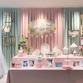 婚庆橱窗摆设装饰品3D模型【ID:928207132】