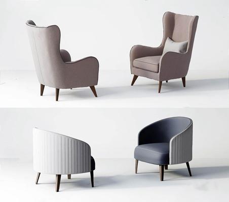現代單人沙發椅3D模型【ID:928188637】