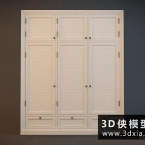 现代衣柜国外3D模型【ID:829751001】