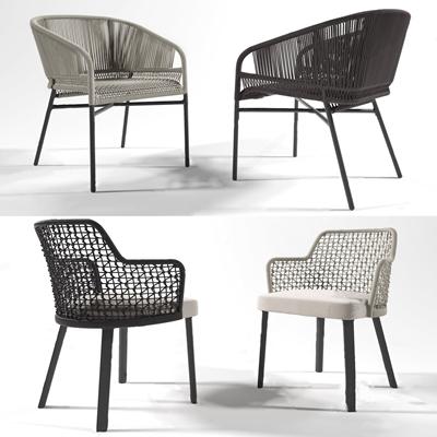 现代户外椅3D模型【ID:734111507】