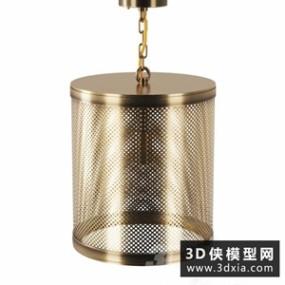 现代金属吊灯国外3D模型【ID:829310747】
