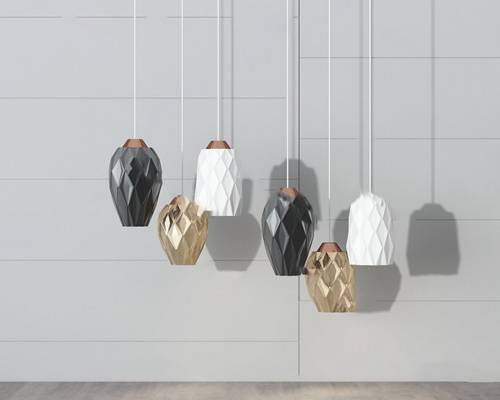 现代吊灯3D模型【ID:220618852】