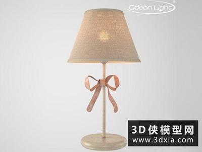 現代臺燈國外3D模型【ID:829404976】