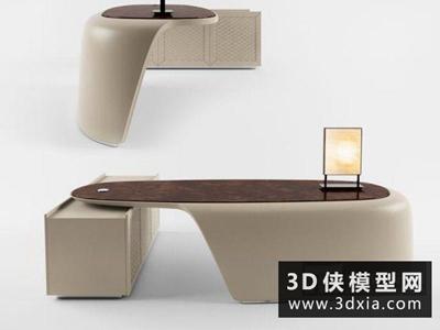 现代前台国外3D模型【ID:229715319】